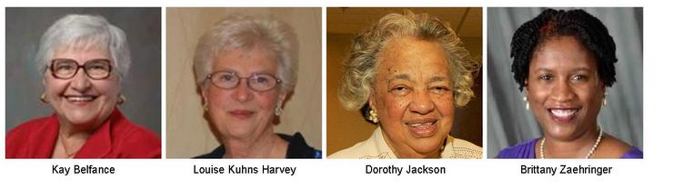 Kay Belfance, Louise Kuhns Harvey, Dorothy Jackson and Brittany Zaehringer