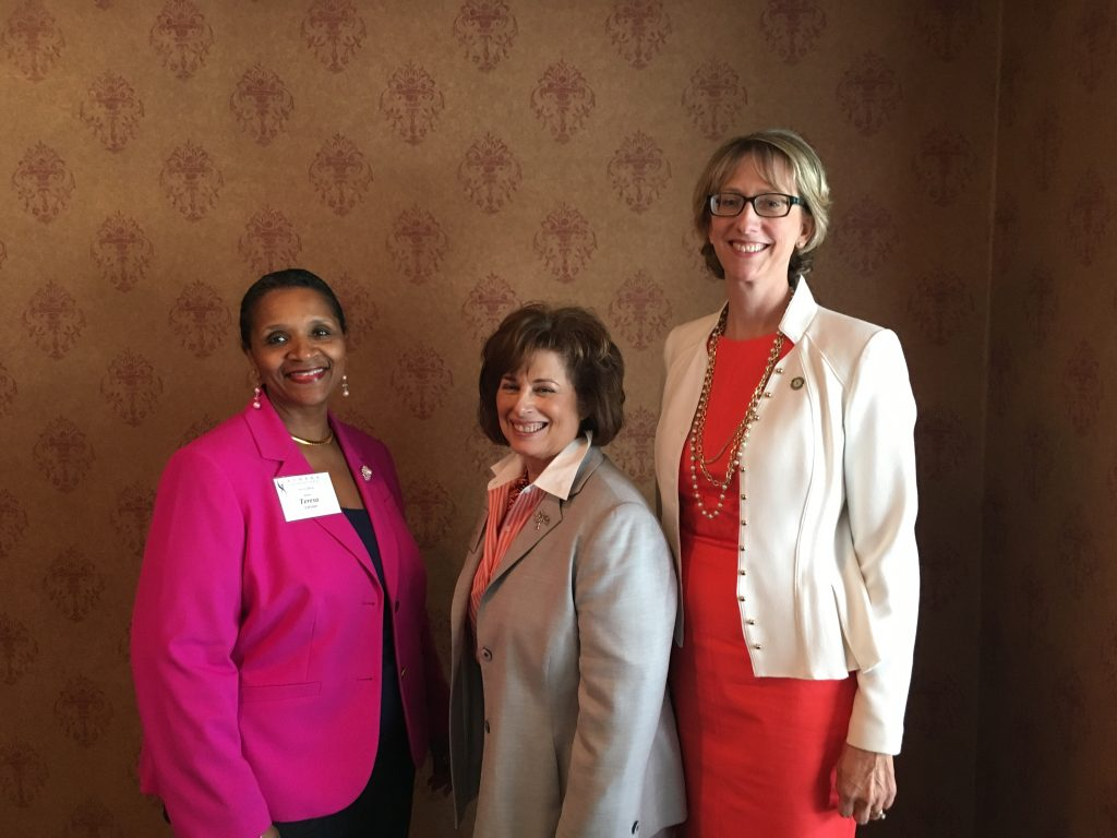 ATHENA Akron Leadership Luncheon Forum discussions with Moderator Theresa LeGrair and insiders Merle Griff and Therese Griebel.