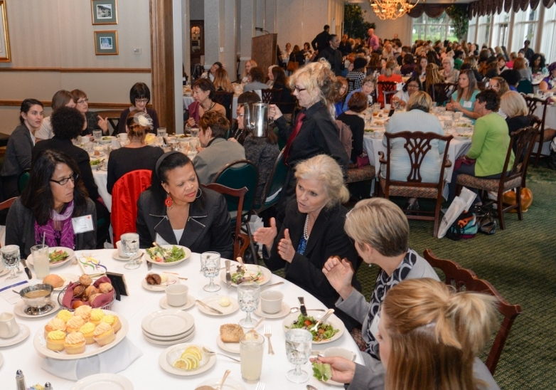 Over 200 women leaders met to discuss leadership challenges at the 7th Annual ATHENA Women's Leadership Day Celebration in September 2015. At this event 100established women leaders invited 100 emerging women leaders to meet the other women leaders in the Akron community.