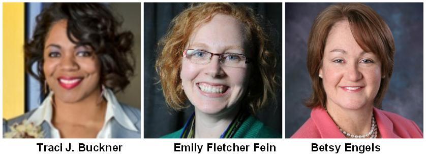 Traci Buckner, Emily Fletcher Fein, Betsy Engels July 2015
