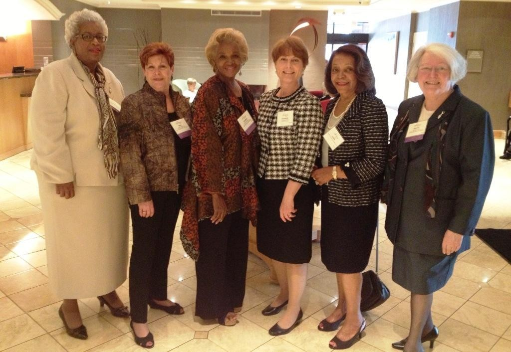 Jackie Silas Butler, Ilene Shapiro, Cynthia Capers, Chris Brown, Judith Lancaster, Norma Rist at the 2015 ATHENA Leadership Awards banquet in May.