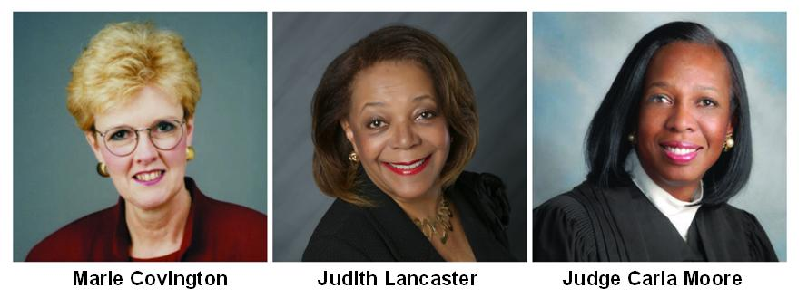 March-2015-Marie-Covington-Judith-Lancaster-Judge-Carla-Moore