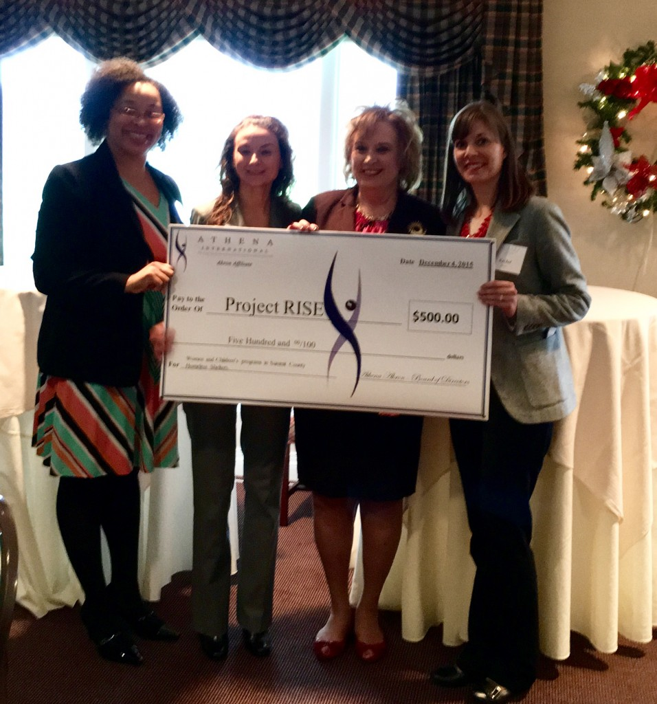 ATHENA Akron presents check to Project RISE